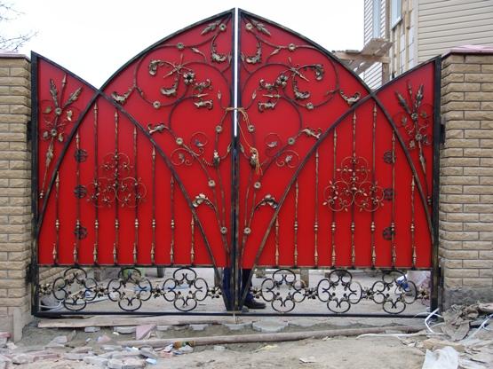 Фото кованных ворот своими руками